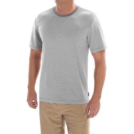 Royal Robbins Desert Knit Micro-Stripe Crew Shirt - UPF 50+, Short Sleeve (For Men) in Pewter - Closeouts