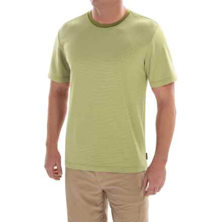 Royal Robbins Desert Knit Micro-Stripe Crew Shirt - UPF 50+, Short Sleeve (For Men) in Spanish Moss - Closeouts