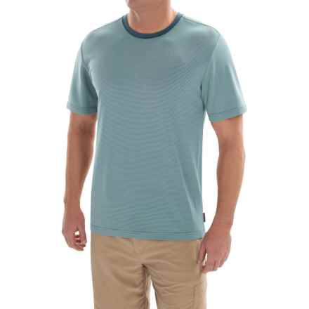 Royal Robbins Desert Knit Micro-Stripe Crew Shirt - UPF 50+, Short Sleeve (For Men) in Tide Pool - Closeouts