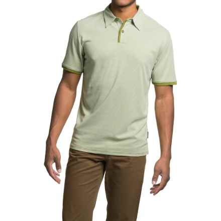Royal Robbins Desert Knit Micro-Stripe Cricket Shirt - UPF 50+, Short Sleeve (For Men) in Spanish Moss - Closeouts