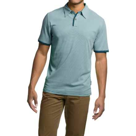 Royal Robbins Desert Knit Micro-Stripe Cricket Shirt - UPF 50+, Short Sleeve (For Men) in Tide Pool - Closeouts