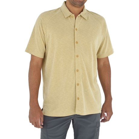 Royal Robbins Desert Knit Shirt - Short Sleeve (For Men) in Wheat