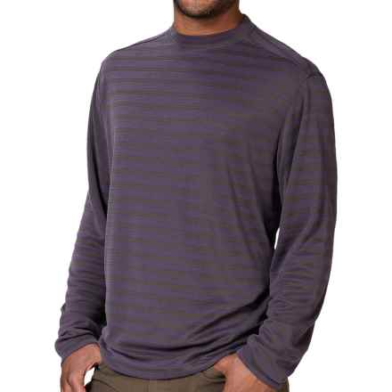 Royal Robbins Desert Knit Stripe Shirt - UPF 50+, Long Sleeve (For Men) in Dark Cosmos - Closeouts
