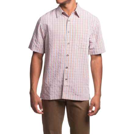 Royal Robbins Desert Pucker Plaid Shirt - Short Sleeve (For Men) in Acorn - Closeouts