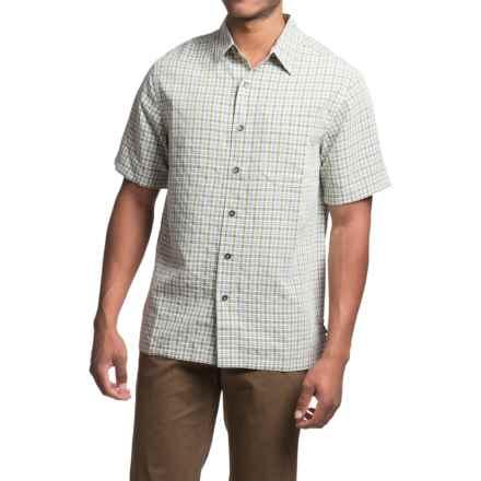 Royal Robbins Desert Pucker Plaid Shirt - Short Sleeve (For Men) in Lichen - Closeouts