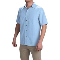 Royal Robbins Desert Pucker Shirt - UPF 25+, Short Sleeve (For Men) in Blue Chill