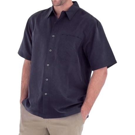 Royal Robbins Desert Pucker Shirt - UPF 25+, Short Sleeve (For Men) in Dark Ember
