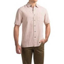 Royal Robbins Desert Pucker Shirt - UPF 25+, Short Sleeve (For Men) in Glaze Pink
