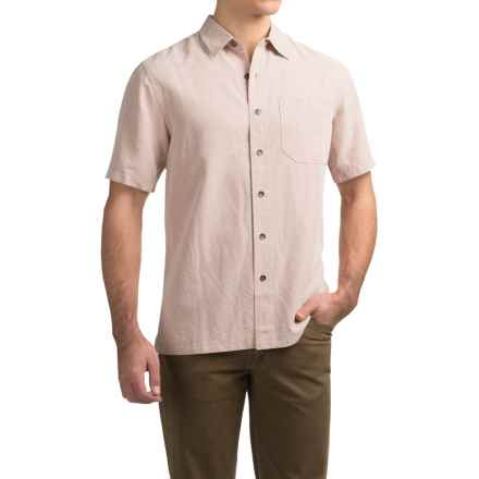 Royal Robbins Desert Pucker Shirt - UPF 25+, Short Sleeve (For Men) in Glaze Pink - Closeouts