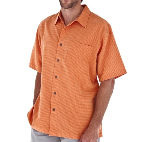 Royal Robbins Desert Pucker Shirt - UPF 25+, Short Sleeve (For Men) in Tangelo