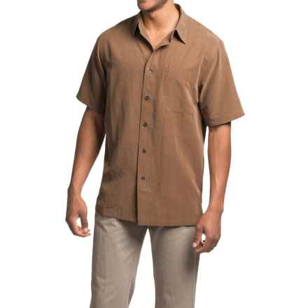 Royal Robbins Desert Pucker Shirt - UPF 25+, Short Sleeve (For Men) in Walnut - Closeouts