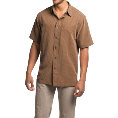 Royal Robbins Desert Pucker Shirt - UPF 25+, Short Sleeve (For Men) in Walnut