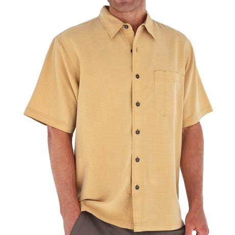 Royal Robbins Desert Pucker Shirt - UPF 25+, Short Sleeve (For Men) in Wheat