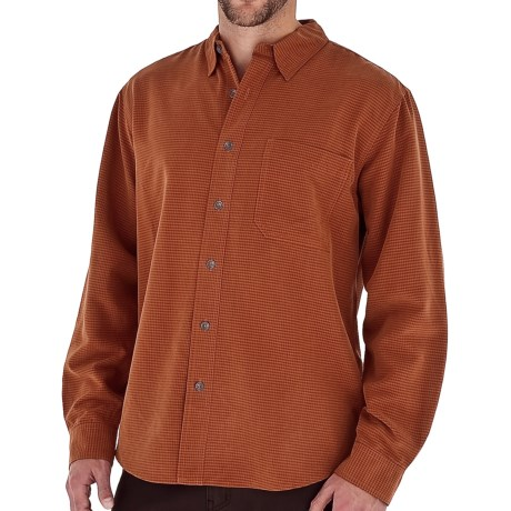 Royal Robbins Desert Pucker UPF Shirt - Sand Washed, Long Sleeve (For Men) in Burnt Orange