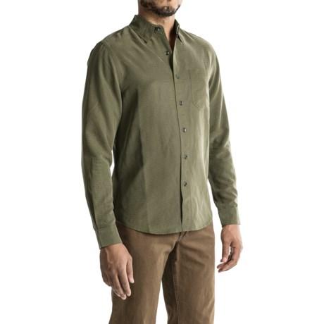 Royal Robbins Desert Pucker UPF Shirt - Sand Washed, Long Sleeve (For Men) in Dark Olive