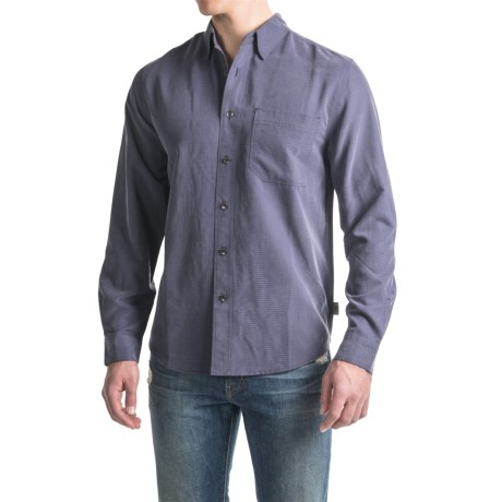 Royal Robbins Desert Pucker UPF Shirt - Sand Washed, Long Sleeve (For Men) in Graystone