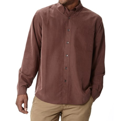 Royal Robbins Desert Pucker UPF Shirt - Sand Washed, Long Sleeve (For Men) in Merlot