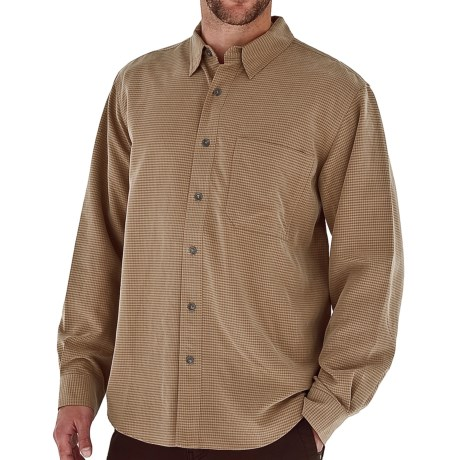 Royal Robbins Desert Pucker UPF Shirt - Sand Washed, Long Sleeve (For Men) in Tan