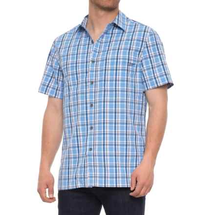 Royal Robbins Diablo Plaid Shirt - UPF 25+, Short Sleeve (For Men) in Merlin Blue - Closeouts