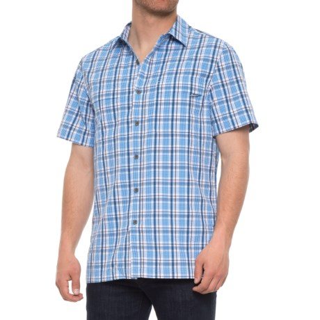 Royal Robbins Diablo Plaid Shirt - UPF 25+, Short Sleeve (For Men) in Merlin Blue