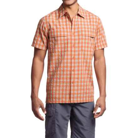 Royal Robbins Diablo Plaid Shirt - UPF 25+, Short Sleeve (For Men) in Salsa - Closeouts