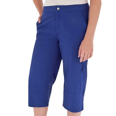 Royal Robbins Discovery Capris - UPF 50+, Stretch Nylon (For Women) in Royal Blue