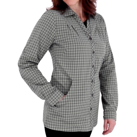 Royal Robbins Discovery Lite Stretch Plaid Jacket - UPF 30+ (For Women) in Pewter
