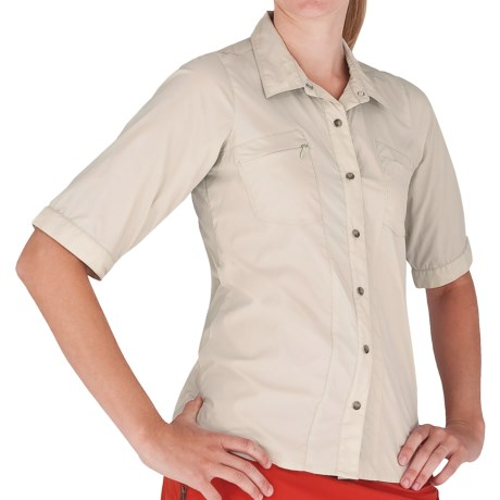 Royal Robbins Discovery Lite Stretch Shirt - UPF 30+, Elbow Sleeve (For Women) in Soapstone