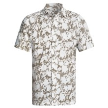 Royal Robbins Distorted Leaves Shirt - Cotton Dobby, Short Sleeve (For Men) in Trail Moss - Closeouts