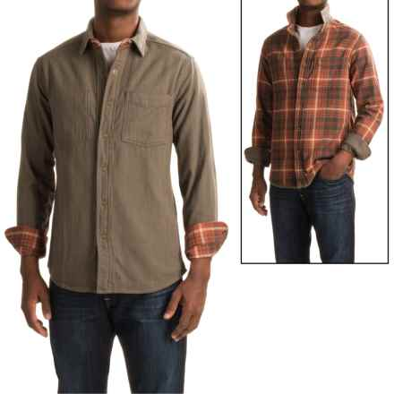 Royal Robbins Double Back Overshirt - Cotton, Reversible, Long Sleeve (For Men) in Turkish Coffee - Closeouts