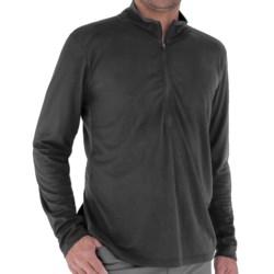 Royal Robbins Dri-Release® Shirt - UPF 25+, Zip Neck, Long Sleeve (For Men) in Obsidian