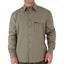 Royal Robbins Echo Canyon Plaid Shirt - UPF 40+, Roll-Up Long Sleeve (For Men) in Capers - Closeouts