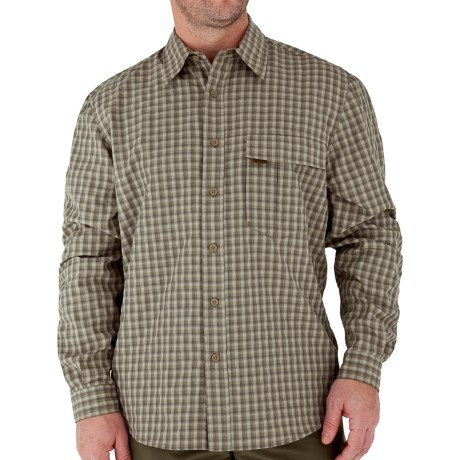 Royal Robbins Echo Canyon Plaid Shirt - UPF 40+, Roll-Up Long Sleeve (For Men) in Capers