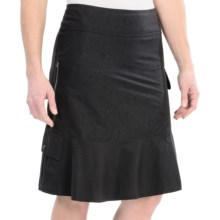 Royal Robbins Embossed Discovery Skirt - UPF 50+, Stretch Nylon (For Women) in Jet Black - Closeouts
