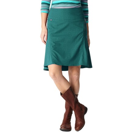 Royal Robbins Embossed Discovery Strider Skirt - UPF 50+ (For Women) in Deep Teal