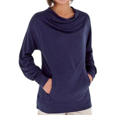 Royal Robbins Enroute Cowl Shirt - UPF 40+, Wool Blend, Long Sleeve (For Women) in Deep Marine