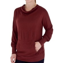 Royal Robbins Enroute Cowl Shirt - UPF 40+, Wool Blend, Long Sleeve (For Women) in Tawny Port - Closeouts