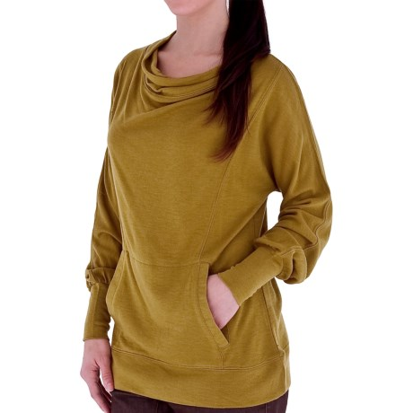 Royal Robbins Enroute Cowl Shirt - UPF 40+, Wool Blend, Long Sleeve (For Women) in Thistle Green