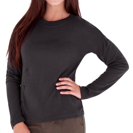 Royal Robbins Enroute Crew Shirt - UPF 40+, Wool Blend, Long Sleeve (For Women) in Charcoal
