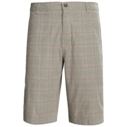 Royal Robbins Epitome Plaid Shorts (For Men) in Light Silver