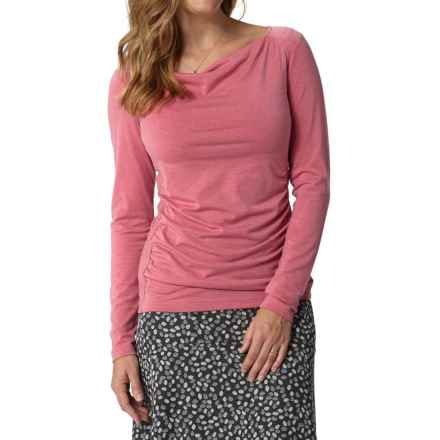 Royal Robbins Essential Cowl Neck Shirt - UPF 50+, TENCEL® Stretch Jersey, Long Sleeve (For Women) in Dixie Rose - Closeouts