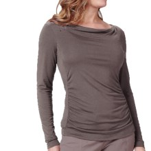 Royal Robbins Essential Cowl Neck Shirt - UPF 50+, TENCEL® Stretch Jersey, Long Sleeve (For Women) in Taupe - Closeouts