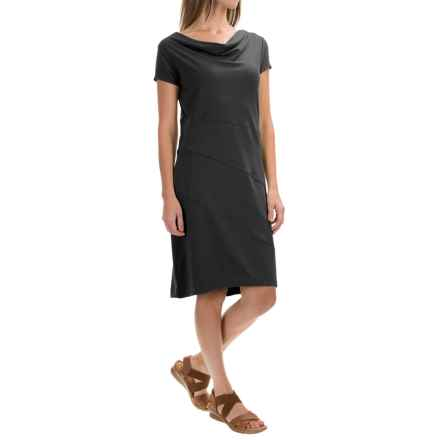 Royal Robbins Essential Dress - Short Sleeve (For Women) in Jet Black - Closeouts