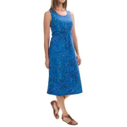 Royal Robbins Essential Floret Dress - UPF 50+, Sleeveless (For Women) in Dark Lapis - Closeouts