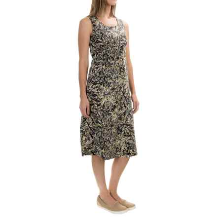 Royal Robbins Essential Floret Dress - UPF 50+, Sleeveless (For Women) in Jet Black - Closeouts