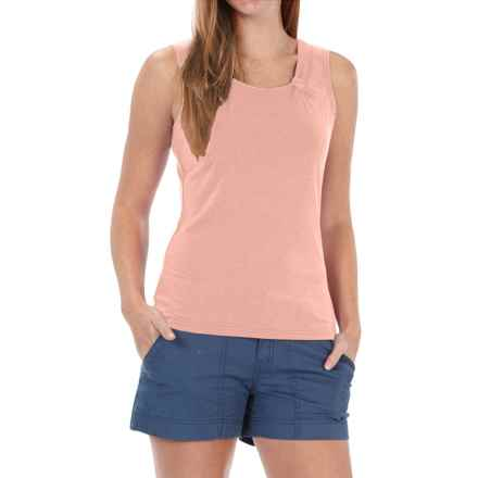 Royal Robbins Essential Ponte Tank Top - UPF 50, TENCEL® Stretch Jersey (For Women) in Light Cantaloup - Closeouts