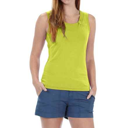 Royal Robbins Essential Ponte Tank Top - UPF 50, TENCEL® Stretch Jersey (For Women) in Lime Zest - Closeouts