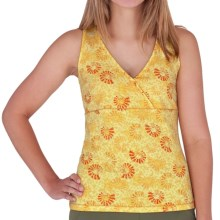 Royal Robbins Essential Print Jersey Tank Top - Racerback, Quick-Dry (For Women) in Daffodill - Closeouts