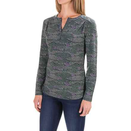 Royal Robbins Essential Printed Henley Shirt - UPF 50+, Long Sleeve (For Women) in Agave - Closeouts