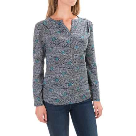 Royal Robbins Essential Printed Henley Shirt - UPF 50+, Long Sleeve (For Women) in Navy - Closeouts